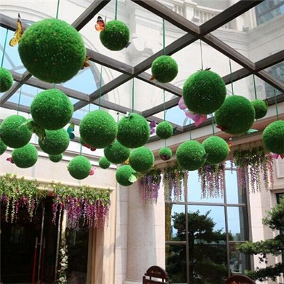 Simulation Of Grass Ball High-grade Plastic Meters Bluegrass Is Hanged Adorn Adornment, 4 S Shop Malls Bar Decorative Grass Ball,Welcome To Sample Custom