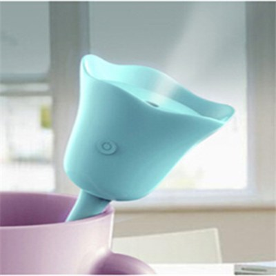 USB Portable Mini Flower Humidifier Rose Tulip Shape Air Diffuser (LJ-1114)