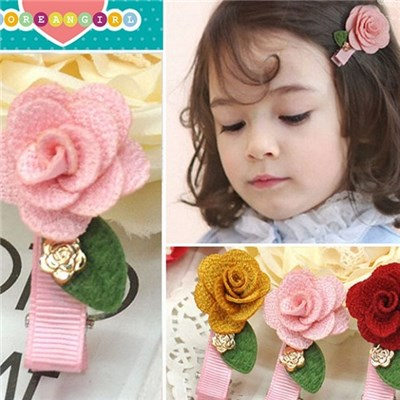 2015 Children Hot Style Hair, Korean Pure Color Flower Hairpin, South Korean Exports The New Tire Children Act The Role Ofing Is Tasted,Welcome To Sample Custom