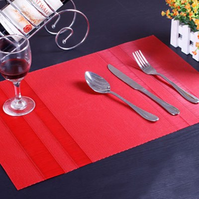 Red Textilene Placemats