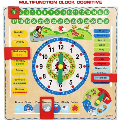The New 2015 Calendar Wooden Clock Puzzle Hangs Taiwan Toys, Multifunction Fancy Early Childhood Cognitive Toys Time In The Season,Welcome To Sample Custom