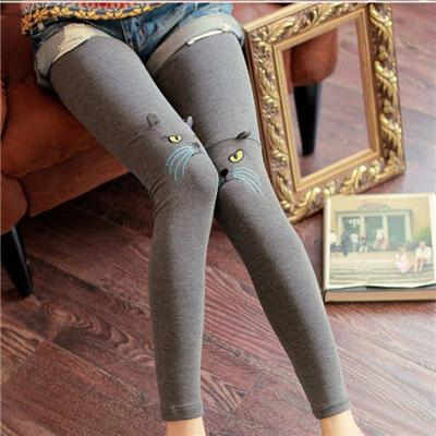 Autumn And Winter Female Trousers Korean Nine Points Belt Hair Thickening, Cute Cat Ear Design Leggings,Welcome To Sample Custom