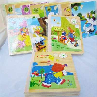 2015 Popular Children''s Early Education Creative Toys, Intellectual Story Wooden Spell Books Jigsaw Puzzle Toys,Welcome To Sample Custom