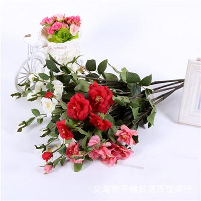 The Simulation Flower Sell Like Hot Cakes Chinese Rose Flower Heads, Home Decoration Artificial Flowers Camellia Flower Heads,Welcome To Sample Custom