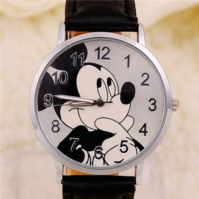 2015 Hot Cute Children Watch Cartoons Mickey Leather Strap Watch,Welcome To Sample Custom
