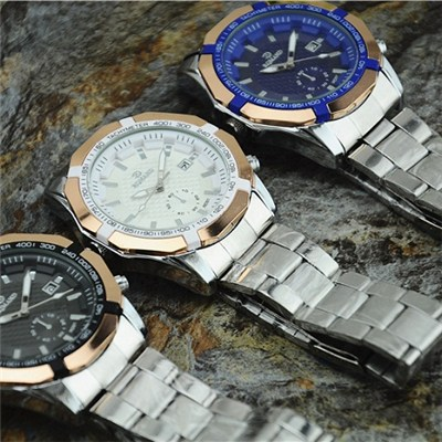 2015 The Latest Fashion Calendar Table Double Core Belt Steel Belt Men''s Watch High-grade Foreign Trade Leisure Men''s Watch,Welcome To Sample Custom