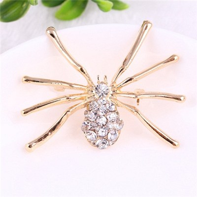 2015 Hot Style In Europe And The Individuality Full Diamond Brooch, A Large Spider New Chest Buckle,Welcome To Sample Custom