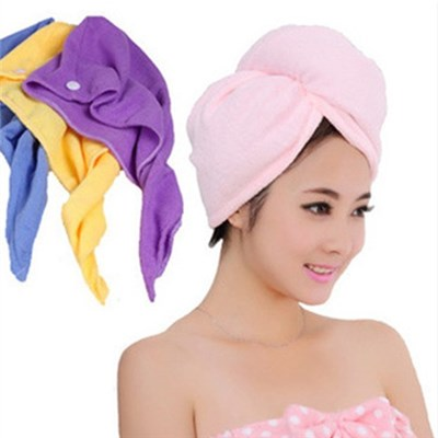 High Quality Creative Home From Super Absorbent Towel, Dry Hair Cap Dry Hair Towel Magical Bath Cap,Welcome To Sample Custom
