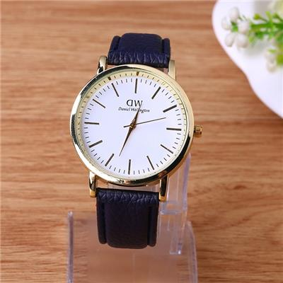 2015 Hot Style Watch Fashion Generous DW Female Watch Lovers Fashion Simple Quartz Leather Strap Watch,Welcome To Sample Custom