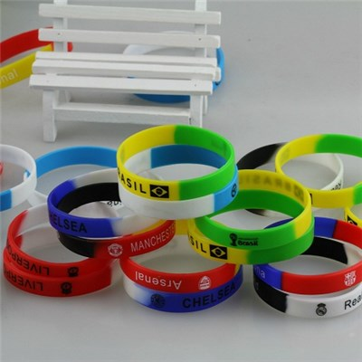 The New 2015 World Cup Bracelet High Quality Silicone Wrist Band Advertising Gift Custom Silicone Bracelets,Welcome To Sample Custom