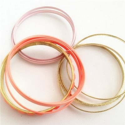2015 Fluorescent Color Bracelet Exquisite Euramerican Style Bracelet Fashion Hoops Painting Bracelet,Welcome To Sample Custom