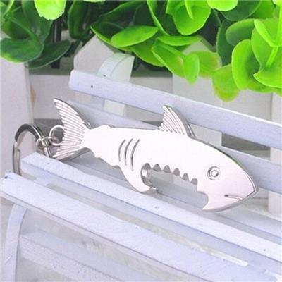 2015 Creative Tiger Shark Bottle Opener Key Chain Simulation Creative Gifts Can Be Customized LOGO Key Ring Key Cha