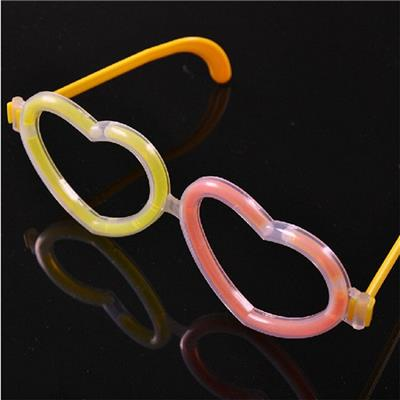 2015 Fluorescent Heart-shaped Frames, Concert Party Light-emitting Toys, Glowing Glasses Containing The Glo-sticks,Welcome To Sample Custom