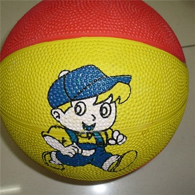 Children''s Products Rubber Basketball Toy Rubber Basketball Can Be Customized LOGO Monochrome High Quality,Welcome To Sample Custom