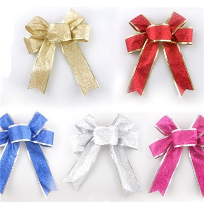 2015 Popular Christmas Ornaments, Christmas Decorations, Christmas Bowknot Adornment Aureate Bowknot,Welcome To Sample Custom