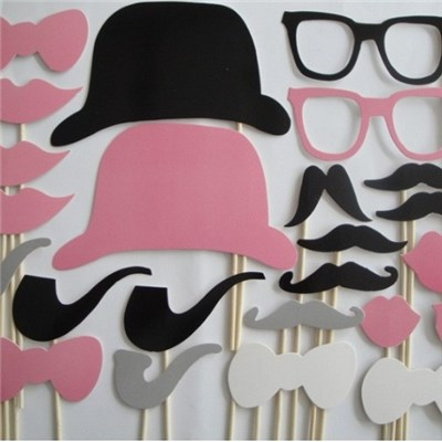 2015 Pink Wacky Party Beard, Wedding Party Photo Props Super Cute And Hospitality,Welcome To Sample Custom
