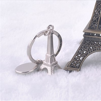 Small Tower 2015 Creative Metal Key Chain Key Ring Can Be Customized LOGO Bag Pendant,Welcome To Sample Custom