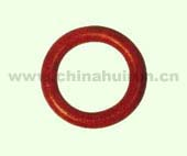 WELDLESS ROUND RING Forged Carbon Steel Painted Red
