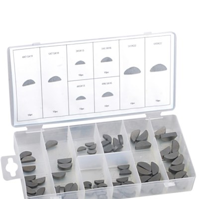 60PC WOODRUFF KEY ASSORTMENT