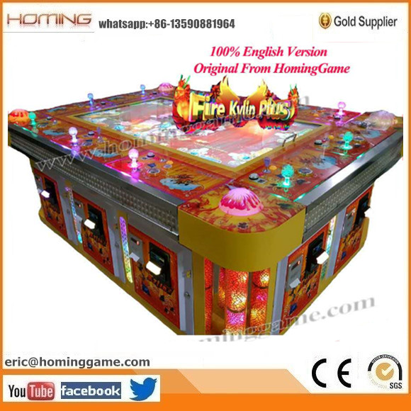 100% English Version Taiwan Original Fire Kylin Fishing Game Machine & Fire Kylin Plus Fishing Game Machine