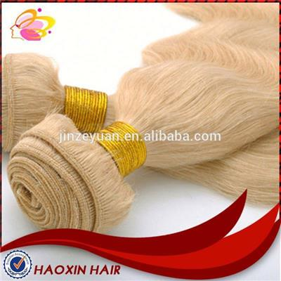Natural Hair Extensions Blonde Weft Wavy