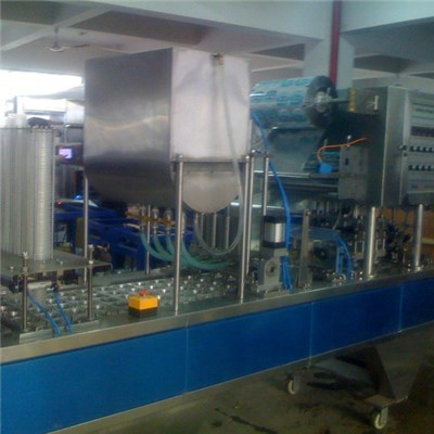 Pneumatic Cup Filling And Sealing Machine