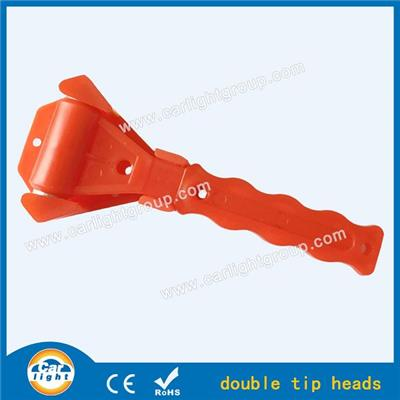 Double Tip Heads Bus Emergency Hammer