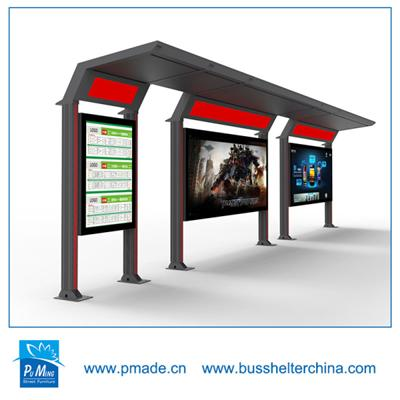 bus shelter with advertising light box