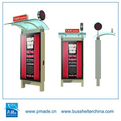 Floor-standing bus shelter double sided road light box