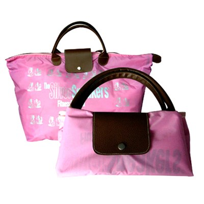 Foldable Tote Bag With PU Tote