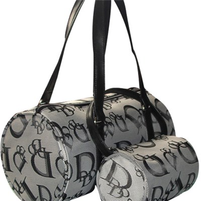 Large Round Tote Bag With Letters Printed