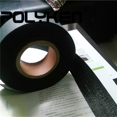 Waterproof Black Polypropylene Woven Pipe Tape