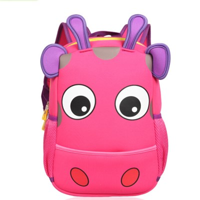 3D KIDS ANIMAL BACKPACK, NEOPRENE COW BACKPACK