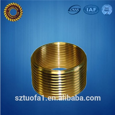 CNC Lathing Brass Sleeve, Brass Turning Bushing With Thread