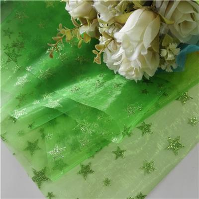 Organza With Shiny Star