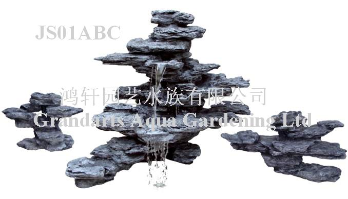 Rockwork waterfall,Artificial rockwork