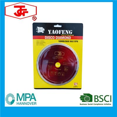 230mm Diamond Cutting Disc For Wet Cutting