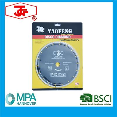 230mm Segment Diamond Saw Blade Hot Pressed