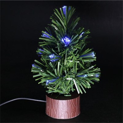 High Quality 6 Inch Height USB Mini Fiber Christmas Tree With LED Light(BC301C)