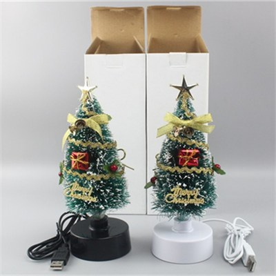 8 Inch Green LED Fiber Optic Christmas Tree (BC301B)
