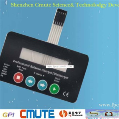Battery Charger Membrane switch GPI-BCMS-001