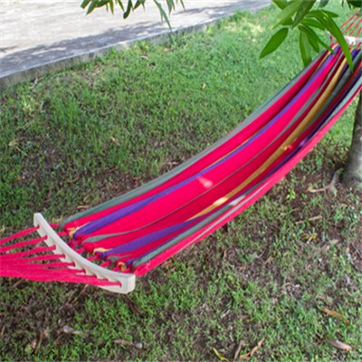 Rollover Prevention Heavy Duty Canvas Hammock With Wood (HMK-001 )