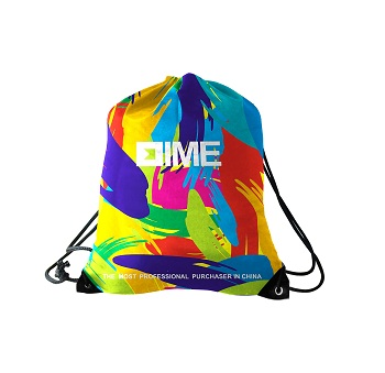 Latest Promotional Products Recycle Zipper Pocket Drawstring Bag