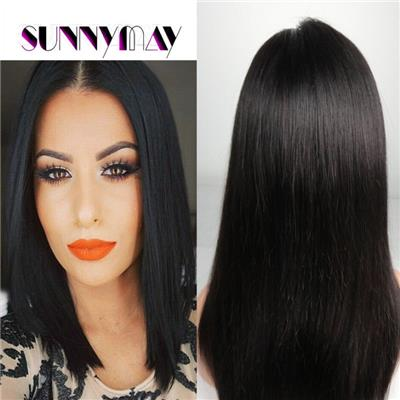 In Stock Sunnymay Hair 7A Malaysian Wig Virgin Hair Straight Human Hair Wigs Natural Color Free Style Full Lace Human Hair Wigs
