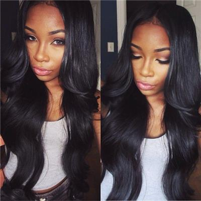 Sunnymay 100% Unprocessed Brazilian Virgin Hair Front Lace Wig Natural Color Human Hair Wigs For Black Women