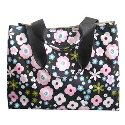 Large Roomy Flowers Printed Shoulder Tote Bag
