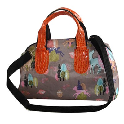 Colourful Printed Tote Bag With Large Zipper