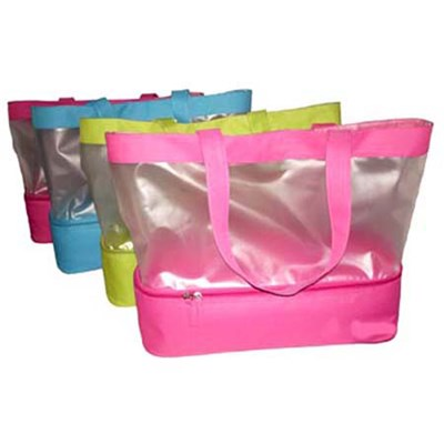Semi Transparent PVC Tote Bag With Cooler Bottom