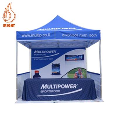 Metal Pop Up Advertising Gazebo With Back Wall