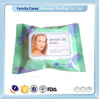 Lady Facial Wet Wipe With Plastic Lid